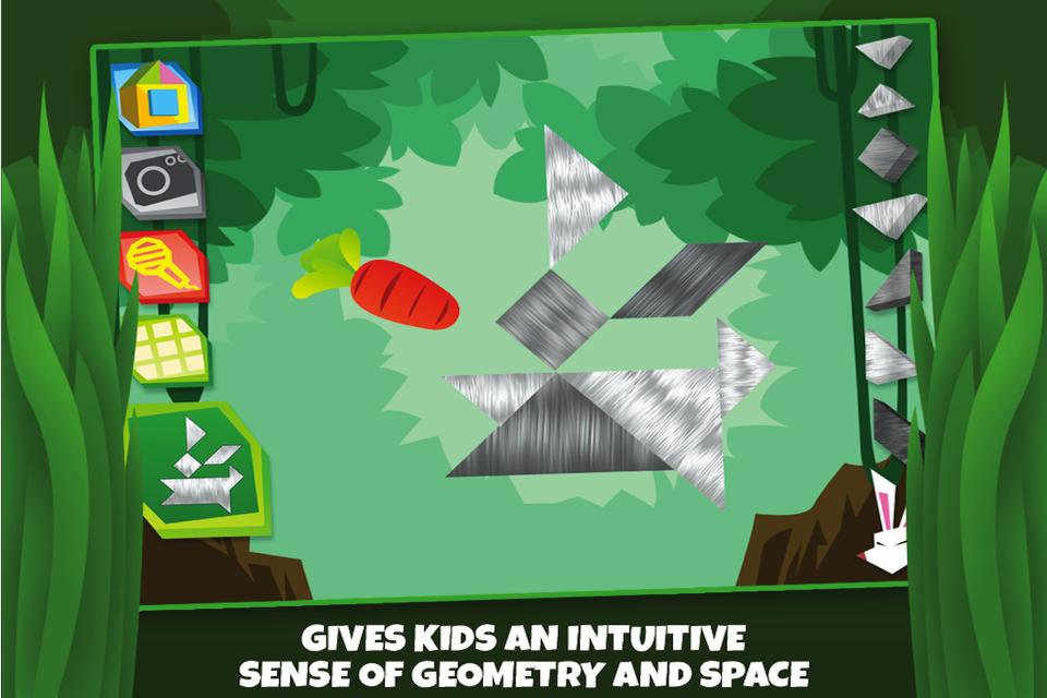 儿童七巧板益智拼图:野生动物